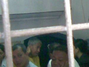 Ka Randy while in the holding facility for detainees at Manila City Hall after his hearing.