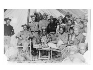 U.S. Army General Samuel Sumner meets with the Sultans of Bayang and Oato, Philippines, 1902 (US COIN Guide 2009)